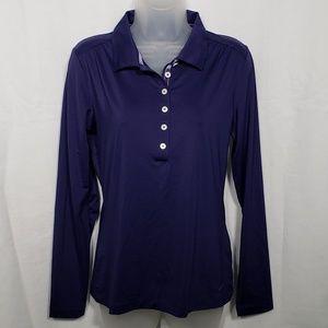 Nike Golf Dri-fit Purple Stripe Shirt